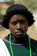Derashe Girl, Derashe Tribe Village, Omo Valley, Ethiopia, portrait, person, one, tribes, tribal, indigenous, peoples, Southern, ethnic, rural, local, traditional, culture, primitive,