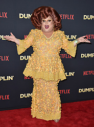 Ginger Minj attends the premiere of Netflix's 'Dumplin'' at TCL Chinese 6 Theatres on December 6, 2018 in Los Angeles, CA, USA. Photo by Lionel Hahn/ABACAPRESS.COM
