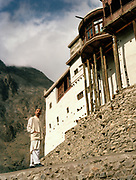 The Baltit Fort or Mir's palace in Karimabad. People and places of the Hunza Valley, in the heart of the Karakoram mountain Range, North Pakistan.