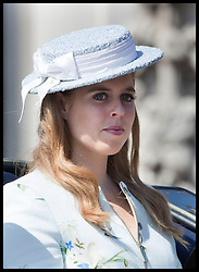 June 17, 2017 - London, London, United Kingdom - Image licensed to i-Images Picture Agency. 17/06/2017. London, United Kingdom. Princess Beatrice leaving Buckingham Palace in London for Trooping the Colour. Picture by Stephen Lock / i-Images (Credit Image: © Stephen Lock/i-Images via ZUMA Press)