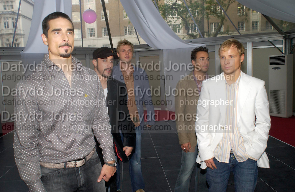 The Backstreet Boys. Glamour Women Of The Year Awards 2005, Berkeley Square, London.  June 7 2005. ONE TIME USE ONLY - DO NOT ARCHIVE  © Copyright Photograph by Dafydd Jones 66 Stockwell Park Rd. London SW9 0DA Tel 020 7733 0108 www.dafjones.com