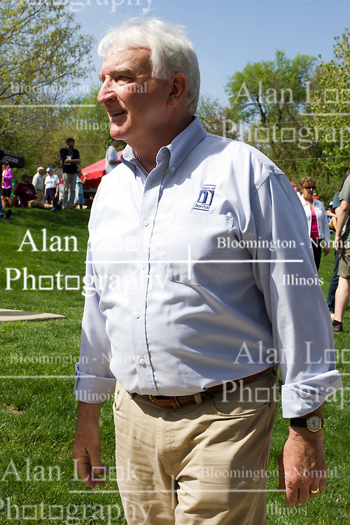 10 May 2014:  Jeff Fritzen at 25th anniversary celebration of the Constitution Trail ceremony at Connie Link Amphitheater in Normal Illinois