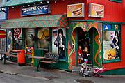 Iceland, Reykjavik.<br /> Drekinn general food store on Frakkastigur street.