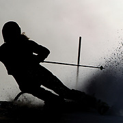 Jared Goldberg, USA, in action during the Men's Slalom event during the Winter Games at Cardrona, Wanaka, New Zealand, 24th August 2011. Photo Tim Clayton...