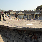 Total devastation after the earthquake.  This building was part of the University that was completely demolished.