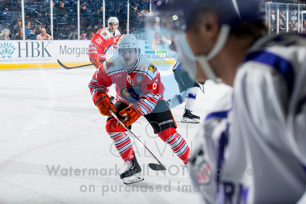 Youngstown Phantoms win 5-3 against the Tri-City Storm at the Covelli Centre on January 18, 2020.<br /> <br /> Cade Lemmer, forward, 6
