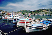 Moored boats in Cassis, South of France