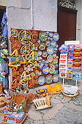 Display of souvenirs, Erice, Sicily, Italy