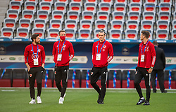 NICE, FRANCE - Wednesday, June 2, 2021: Wales' Joe Allen, Chris Gunter, captain Gareth Bale and Aaron Ramsey during an international friendly match between France and Wales at the Stade Allianz Riviera ahead of the UEFA Euro 2020 tournament. (Pic by Simone Arveda/Propaganda)