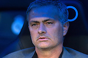 Jose Mourinho moments before start of the match