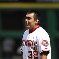 21 July 2007:  Washington Nationals pitcher Chad Cordero (32) warms up prior to the game against the Colorado Rockies.  The Nationals defeated the Rockies 3-0 at RFK Stadium in Washington, D.C.  ****For Editorial Use Only****