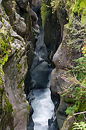 Box Canyon carved by the Muddy Fork of the Cowlitz River, Mount Rainier National Park