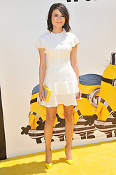 """Miranda Cosgrove arrives at the """"Despicable Me 3"""" Los Angeles Premiere held at the Shrine Auditorium in Los Angeles, CA on Saturday, June 24, 2017.  (Photo By Sthanlee B. Mirador) *** Please Use Credit from Credit Field ***"""