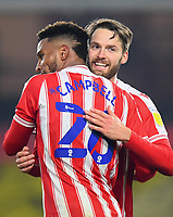 Football - 2020 / 2021 Sky bet Championship - Watford vs Stoke City - Vicarage Road<br /> <br /> Stoke City's Nick Powell celebrates scoring his side's second goal.<br /> <br /> COLORSPORT/ASHLEY WESTERN