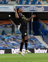 Manchester City's Raheem Sterling celebrates scoring his side's first goal  <br /> <br /> Photographer David Horton/CameraSport<br /> <br /> The Premier League - Brighton & Hove Albion v Manchester City - Saturday 11th July 2020 - The Amex Stadium - Brighton<br /> <br /> World Copyright © 2020 CameraSport. All rights reserved. 43 Linden Ave. Countesthorpe. Leicester. England. LE8 5PG - Tel: +44 (0) 116 277 4147 - admin@camerasport.com - www.camerasport.com