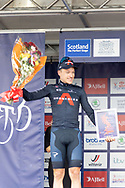 Ethan Hayter runner up in the general classification during the presentation after Stage 8 of the AJ Bell Tour of Britain 2021 between Stonehaven to Aberdeen, , Scotland on 12 September 2021.