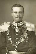 'Ernest Louis (1868-1937), last Grand Duke of Hesse and by Rhine 1892-1918, pictured c1892. A grandson of Queen Victoria, during World War I he served in the German military. Deposed in the 1918 revolution, having refused abdicate.'