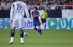 03-03-2007 VOETBAL: SEVILLA FC - BARCELONA: SEVILLA  <br /> Sevilla wint de topper met Barcelona met 2-1 / Lionel Messi - boarding unibet.com<br /> ©2006-WWW.FOTOHOOGENDOORN.NL