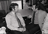 John Dawes in conversation with Gareth Edwards. Rugby World awards 1979. 21/6/79. Credit : Colorsport