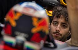 November 24, 2017 - Abu Dhabi, United Arab Emirates - Daniel Ricciardo of Australia and Red Bull Racing Team driver goes during the first practice at Formula One Etihad Airways Abu Dhabi Grand Prix on Nov 24, 2017 in Yas Marina Circuit, Abu Dhabi, UAE. (Credit Image: © Robert Szaniszlo/NurPhoto via ZUMA Press)