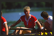 Lucerne, SWITZERLAND.  [URS] RUS W4+ 1988  Lucerne International Regatta, Lake Rotsee. June 1988 [Mandatory Credit - Peter Spurrier/Intersport Images] 1988 Lucerne International Regatta