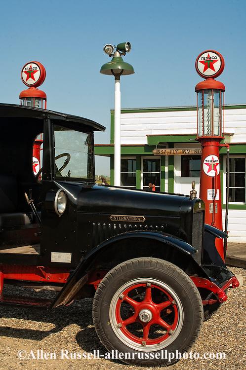 Big Horn County Historical Museum, Hardin, Montana, 1927 International truck, Fly Inn Gas Station