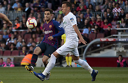 May 12, 2019 - Barcelona, Spain - Phillipe Coutinho during the match between FC Barcelona angd Getafe, corresponding to the round 37 of the Liga Santander, played at the Camp Nou Stadium, on 12th May 2019, in Barcelona, Spain. (Credit Image: © Joan Valls/NurPhoto via ZUMA Press)