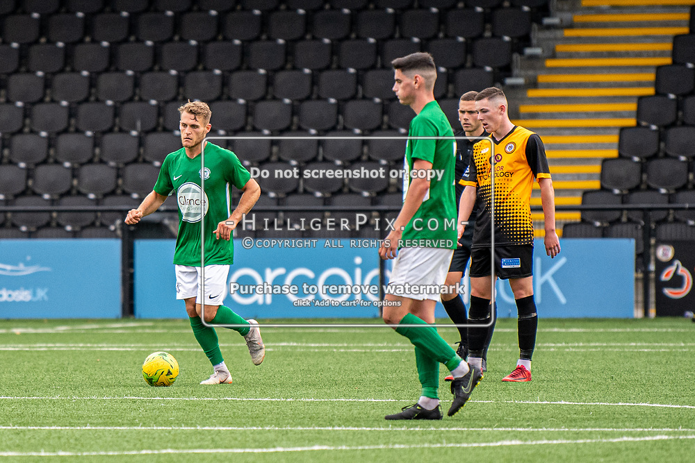 BROMLEY, UK - SEPTEMBER 22: Toby Andrews, of Soham Town Rangers, runs back to the half way after scoring a consolation goal during the Emirates FA Cup Second Round Qualifier match between Cray Wanderers and Soham Town Rangers at Hayes Lane on September 22, 2019 in Bromley, UK. <br /> (Photo: Jon Hilliger)