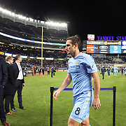 NEW YORK, NEW YORK - November 06: Frank Lampard #8 of New York City FC leaves the field after his sides 5-0 loss during the NYCFC Vs Toronto FC MLS playoff game at Yankee Stadium on November 06, 2016 in New York City. (Photo by Tim Clayton/Corbis via Getty Images)