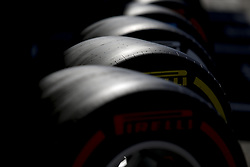 June 22, 2018 - Le Castellet, France - Motorsports: FIA Formula One World Championship 2018, Grand Prix of France, .Pirelli, tire, tires, tyre, tyres, wheel, wheels, Reifen, Rad, feature  (Credit Image: © Hoch Zwei via ZUMA Wire)
