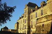 Chateau Cadillac in evening sunlight. Cadillac, Entre deux Mers. Bordeaux, France