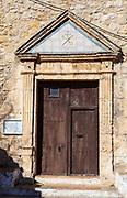 Church in Olivella, Garraf, Catalonia, Spain, built in 1430, renovated in 1607.