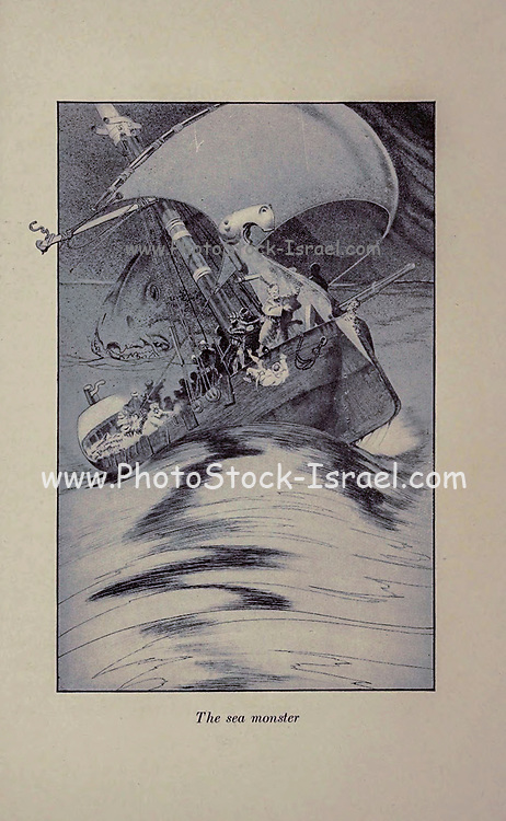 The Sea Monster from the Book ' The Arabian nights ' Edited by Anna Tweed, Published in 1910 in New York, by The Baker & Taylor company Illustrated by Caspar Emweson and Leon D'Emo