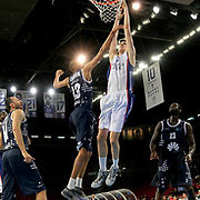 Anadolu Efes's Emircan Kosut (C) during their Turkish Basketball League Play Off round 1 match Anadolu Efes between Turk Telekom at Abdi Ipekci Arena in Istanbul Turkey on Wednesday 20 May 2015. Photo by Aykut AKICI/TURKPIX