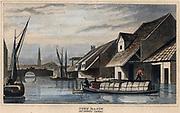 Regent's Canal: City Road Basin, London, 1830.