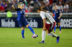 October 4, 2018 - Cary, North Carolina, United States - Cary, N.C. -  Thursday October 4, 2018: The women's national teams of the United States (USA) and Mexico (MEX) play in a 2018 CONCACAF Women's Championship game at Sahlen's Stadium at WakeMed Soccer Park. (Credit Image: © Tony Quinn/ISIPhotos via ZUMA Wire)