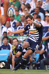 CAPE TOWN, SOUTH AFRICA - 5 MARCH 2011, Peter Grant of the Stormers kicks a penalty during the Super Rugby match between DHL Stormers and Cheetahs at DHL Newlands Stadium in Cape Town, South Africa..Photo by Shaun Roy / Sportzpics