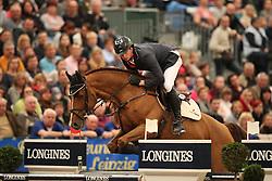 Hassmann Felix, (GER), Horse Gym's Balzaci<br /> Longines FEI World Cup presented by Sparkasse<br /> Sparkasen Cup-Grand Prix of Leipzig<br /> CSIO Leipzig 2016<br /> © Hippo Foto - Stefan Lafrentz