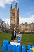 David Burrowes MP and Linda Corcoran. Marking World Water Day, over 40 MP's walked for water at Westminster, London at an event organised by WaterAid and Tearfund. Globally hundreds of thousands of people took part in the campaign to raise awareness of the world water crisis.