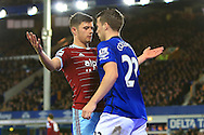 West Ham's Aaron Cresswell squares up to Seamus Coleman of Everton - Everton vs. West Ham United - Barclay's Premier League - Goodison Park - Liverpool - 22/11/2014 Pic Philip Oldham/Sportimage