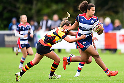 Rownita Marston of Bristol Ladies is tackled by Jade Wong of Richmond ladies - Mandatory by-line: Craig Thomas/JMP - 17/09/2017 - Rugby - Cleve Rugby Ground  - Bristol, England - Bristol Ladies  v Richmond Ladies - Women's Premier 15s
