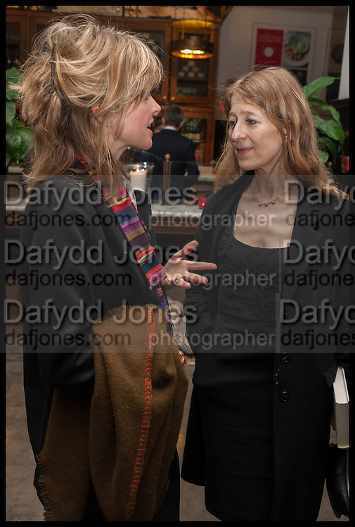 Catherine FitzGerald,; Candida Crewe; , Launch of Rachel Kelly's memoir 'Black Rainbow' about recovering from depression with the help of poetry published by Hodder & Stoughton , ( Author proceeds will be given to the charities SANE and United Response ). Cafe of the National Gallery.  London. 7 May 2014