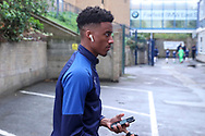 AFC Wimbledon goalkeeper Nathan Trott (1) arriving during the EFL Sky Bet League 1 match between Southend United and AFC Wimbledon at Roots Hall, Southend, England on 12 October 2019.