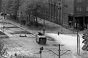 Zamieszki ulicznne podczas stanu wojennego. Nowa Huta, 1982 rok