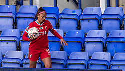 BIRKENHEAD, ENGLAND - Sunday, March 14, 2021: Liverpool's Taylor Hinds climbs into the stands to retrieve the ball during the FA Women's Championship game between Liverpool FC Women and Coventry United Ladies FC at Prenton Park. Liverpool won 5-0. (Pic by David Rawcliffe/Propaganda)