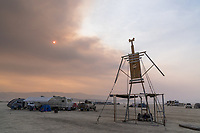 Shading Man and Smoky Skies - https://Duncan.co/Burning-Man-2021