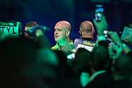Michael van Gerwen during the walk-on during the World Darts Championships 2018 at Alexandra Palace, London, United Kingdom on 27 December 2018.