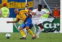 Faro 27/6/2004 Euro2004 <br />Svezia - Olanda 4-5 after penalties (0-0) <br />Henrik Larsson of Sweden and Clarence Seedorf of Netherlands<br />Photo Andrea Staccioli Graffiti