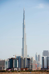 Burj Khalifa skyscraper in Dubai United Arab Emirates UAE