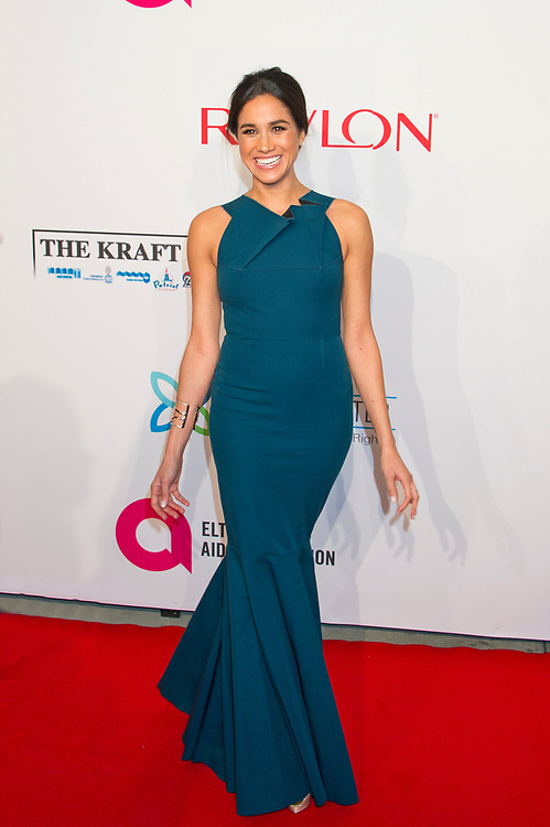 Meghan Markle arrives to the Elton John AIDS Foundation's Annual An Enduring Vision Benefit in New York City